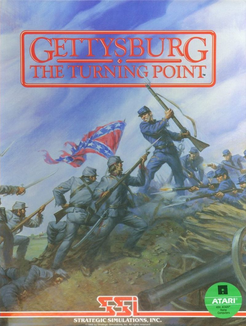 Gettysburg: The Turning Point Atari 8-bit Front Cover