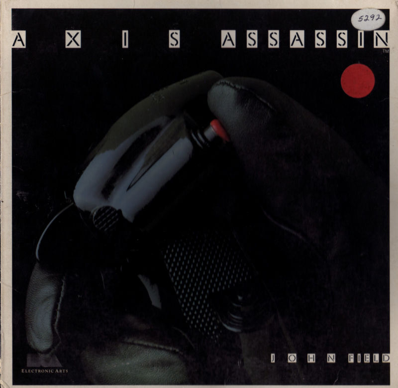 Axis Assassin Atari 8-bit Front Cover
