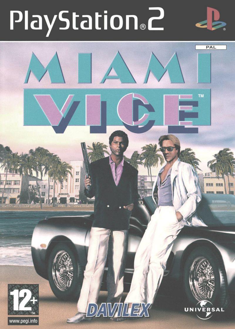 Miami Vice (2004) PlayStation 2 box cover art - MobyGames