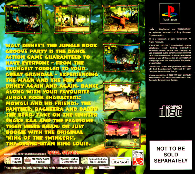 Walt Disney's The Jungle Book: Rhythm n' Groove PlayStation Back Cover