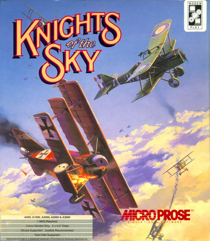 Knights of the Sky Amiga Front Cover
