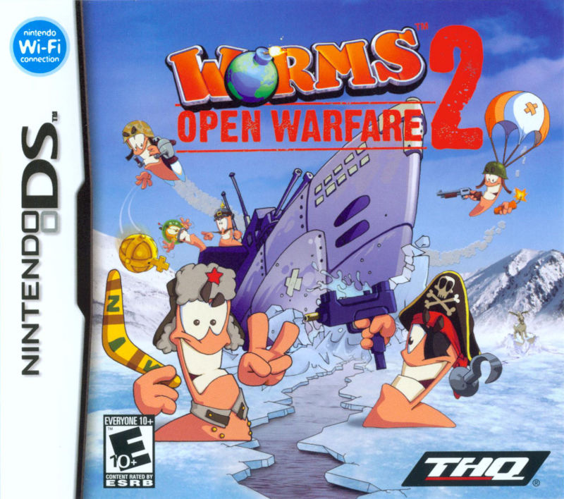 Worms: Open Warfare 2 Nintendo DS Front Cover