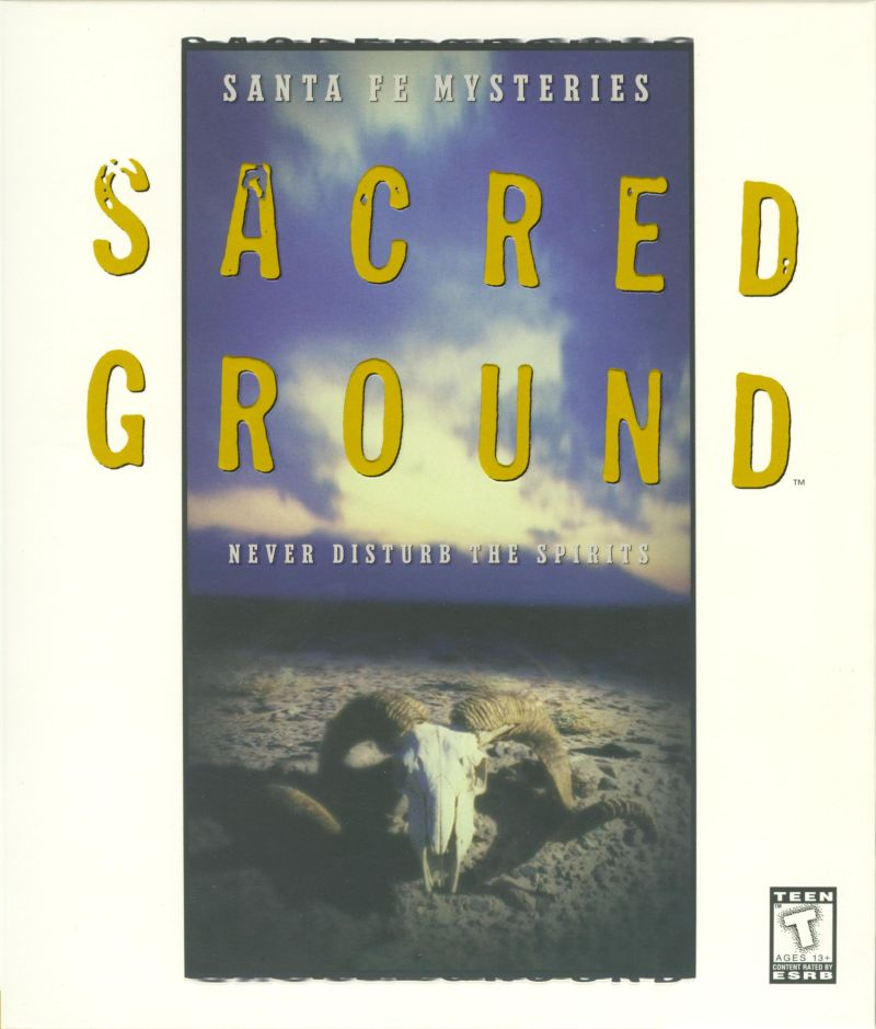 Santa Fe Mysteries: Sacred Ground DOS Front Cover