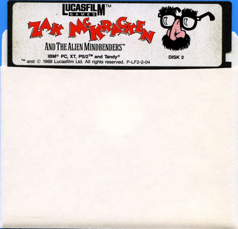 "Zak McKracken and the Alien Mindbenders DOS Media 5.25"" Disk 2/2"