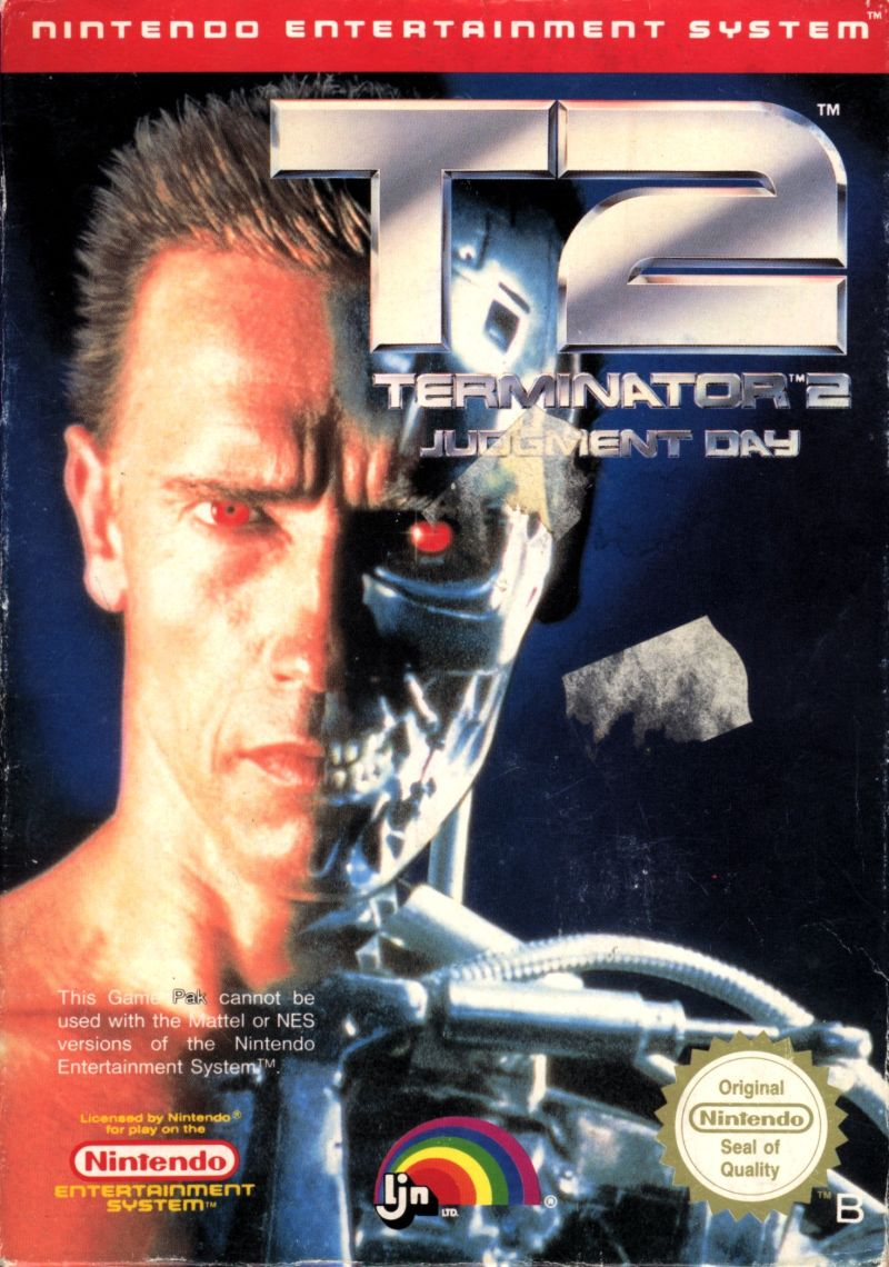 Terminator 2: Judgment Day NES Front Cover