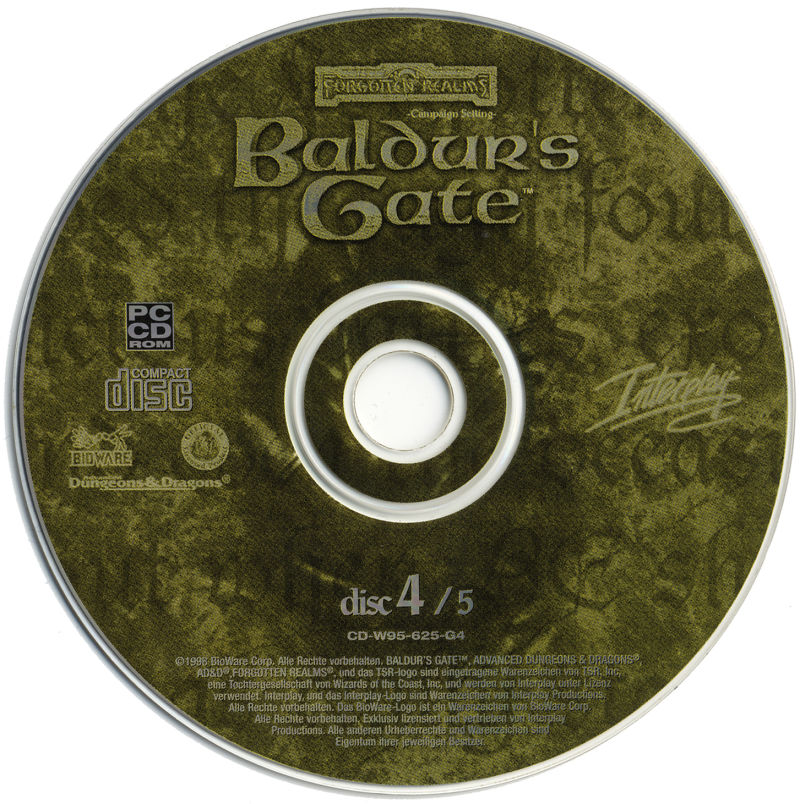 Baldur's Gate Windows Media Disc 4
