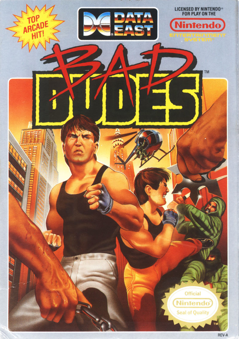 bad dudes 1989 nes box cover art mobygames