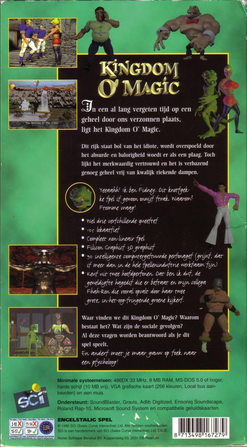 Kingdom O' Magic DOS Back Cover