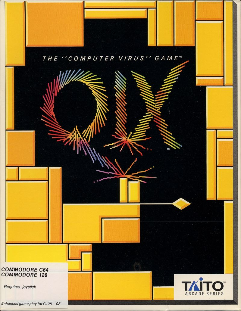 QIX for Commodore 64 (1989) - MobyGames