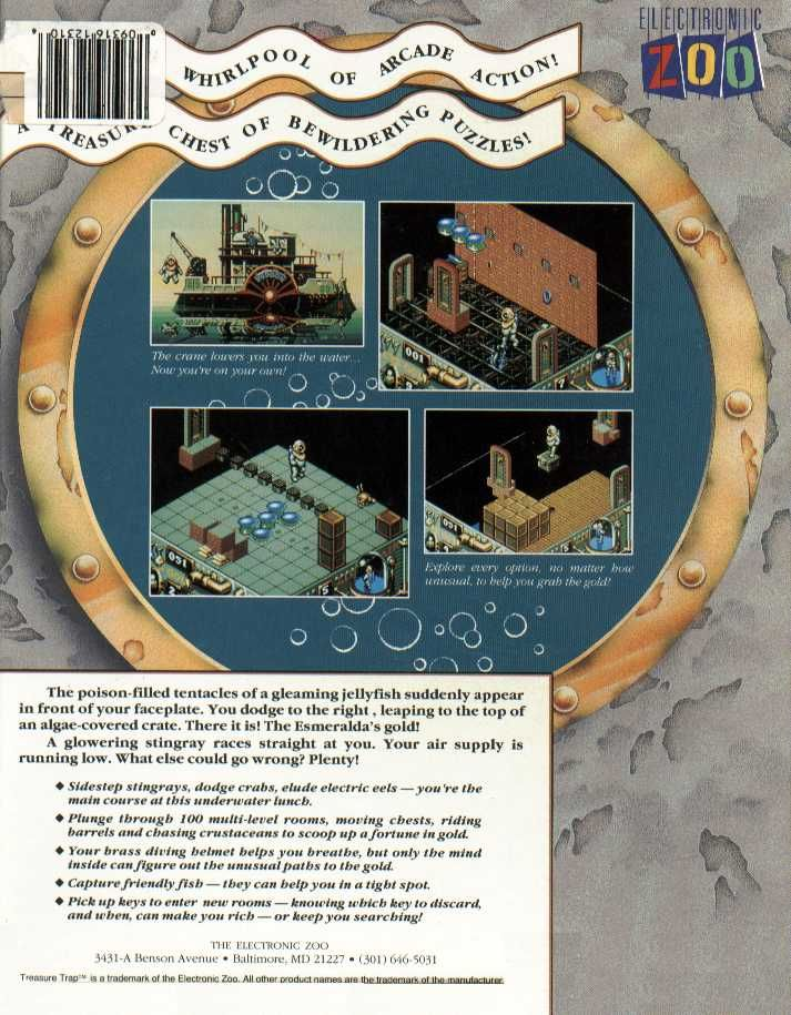 Treasure Trap Amiga Back Cover
