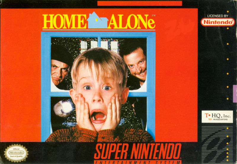 Home Alone SNES Front Cover
