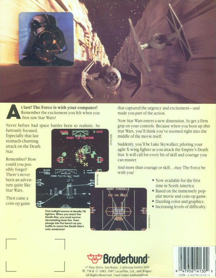 Star Wars Commodore 64 Back Cover