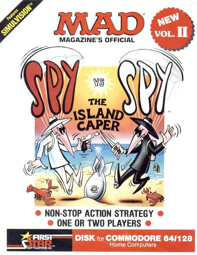 Spy vs. Spy: The Island Caper Commodore 64 Front Cover
