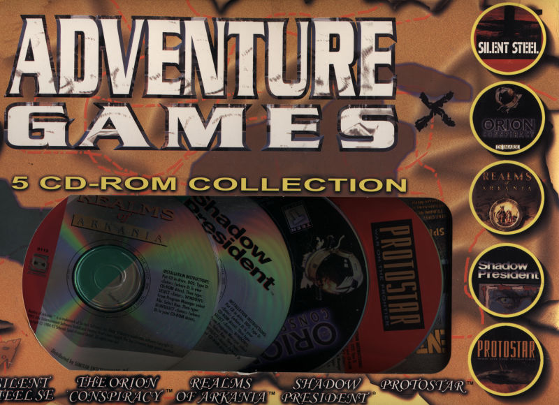 Adventure Games: 5 CD-ROM Collection DOS Front Cover