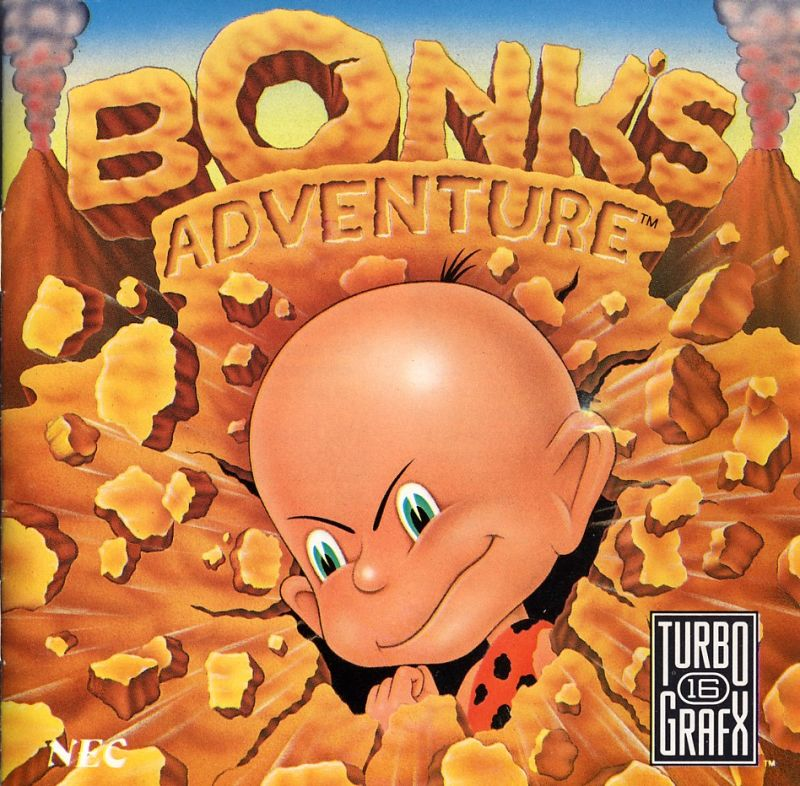 Bonk's Adventure TurboGrafx-16 Other Jewel Case - Front
