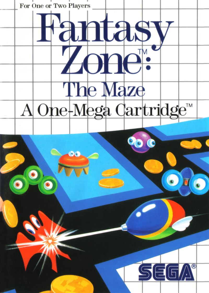 Fantasy Zone: The Maze SEGA Master System Front Cover