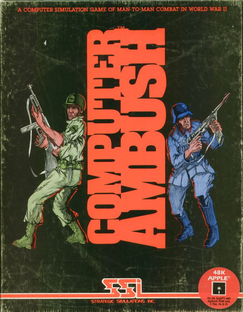 Computer Ambush Apple II Front Cover