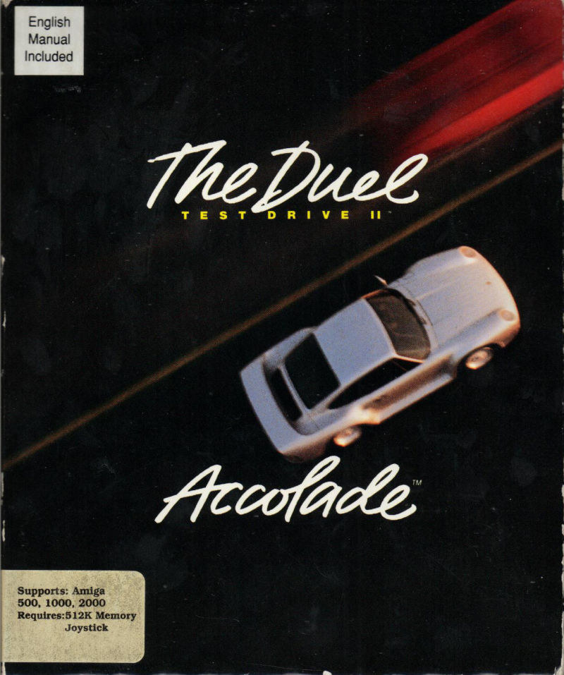 The Duel: Test Drive II Amiga Front Cover