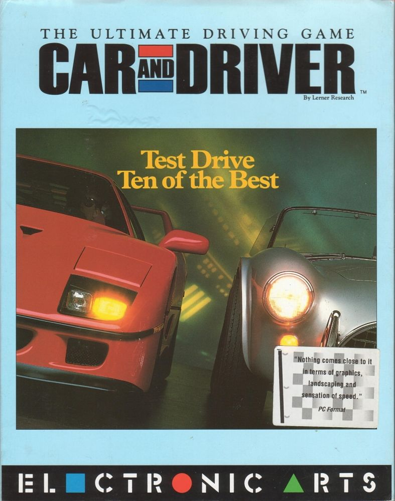 Car and Driver DOS Front Cover