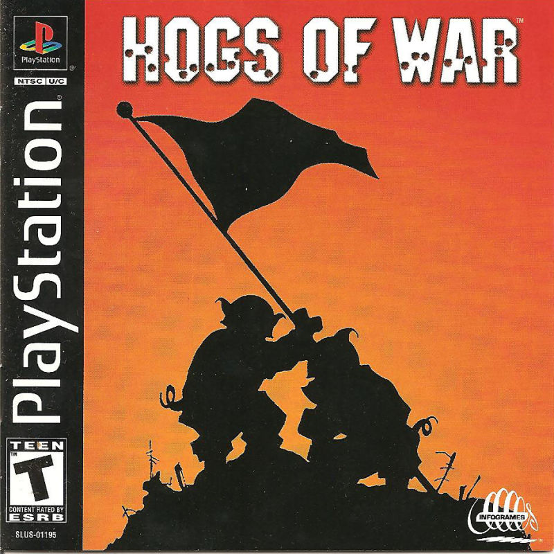 Hogs of War PlayStation Front Cover