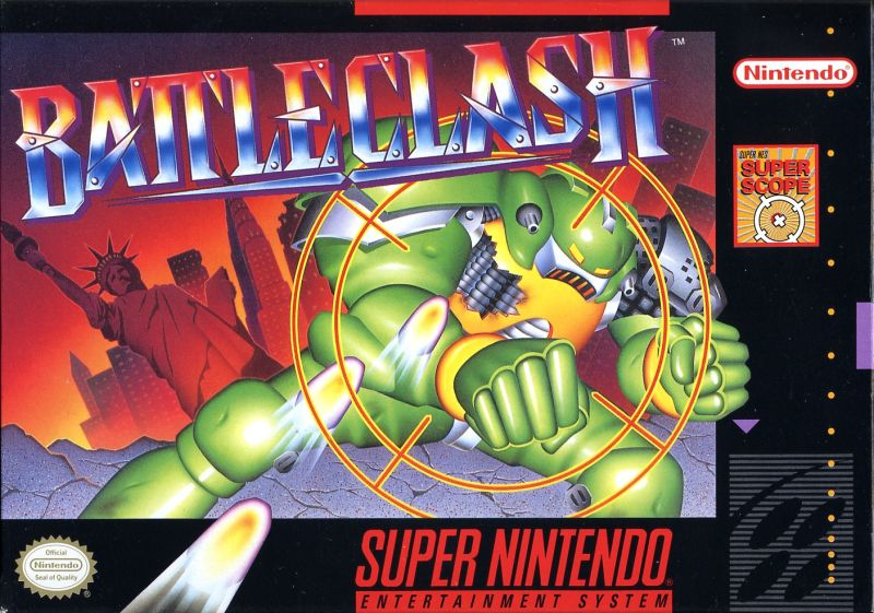Battle Clash SNES Front Cover