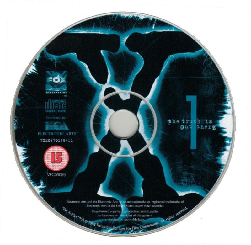 The X-Files Game Windows Media Disc 1/7