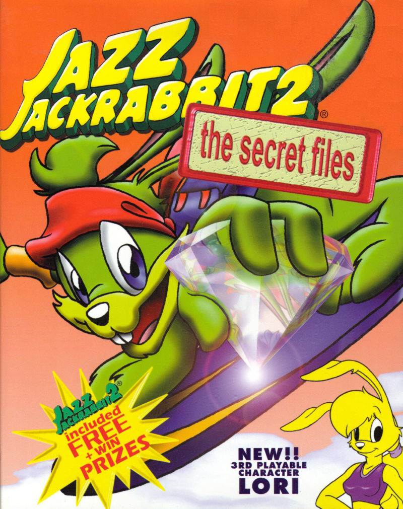Jazz Jackrabbit 2: The Secret Files Windows Front Cover