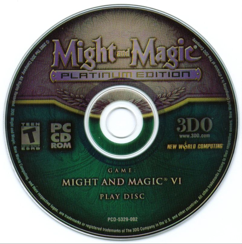 Might and Magic (Platinum Edition) Windows Media Might and Magic VI Play Disc