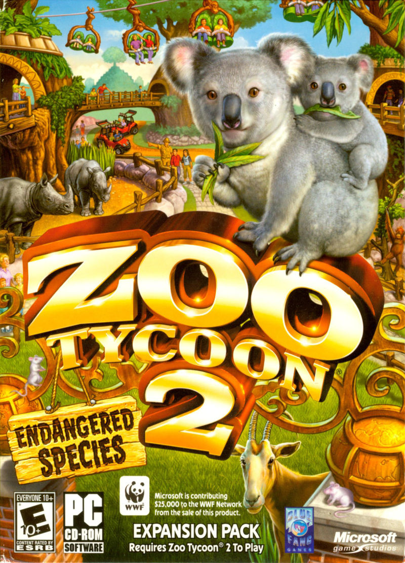 Zoo Tycoon 2: Endangered Species Windows Front Cover