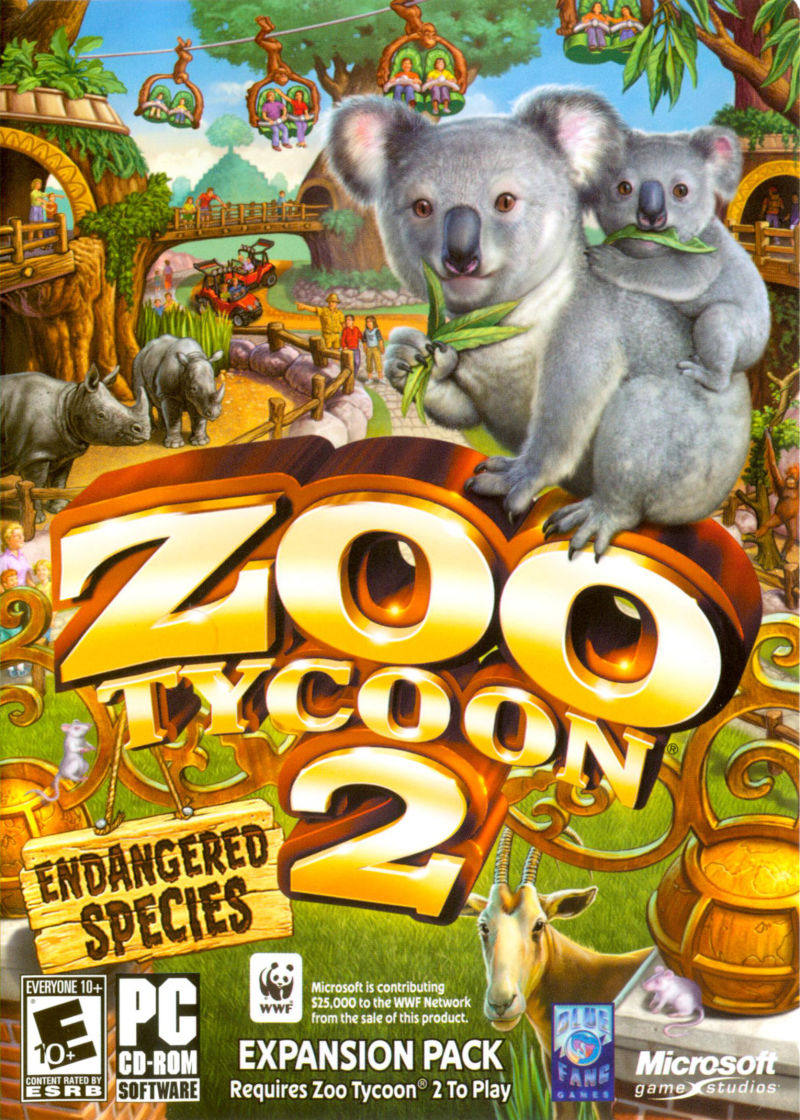 Zoo Tycoon 2: Endangered Species Windows Other Keep Case - Front
