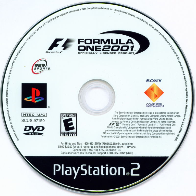 Formula One 2001 PlayStation 2 Media