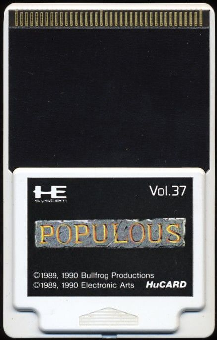 Populous TurboGrafx-16 Media