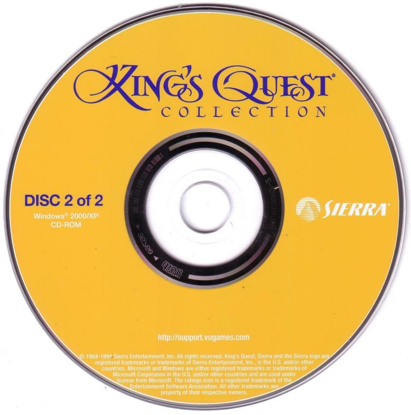 King's Quest Collection Windows Media Disc 2