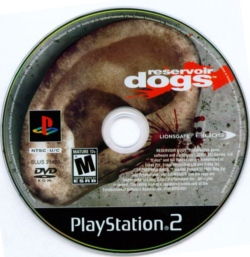 Reservoir Dogs PlayStation 2 Media