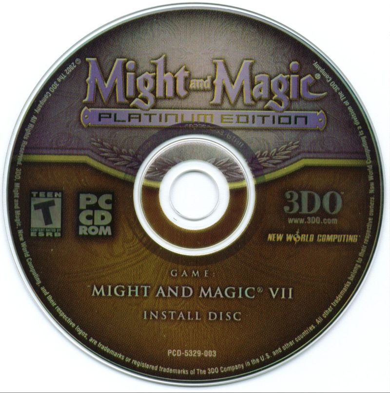 Might and Magic (Platinum Edition) Windows Media Might and Magic VII Install Disc