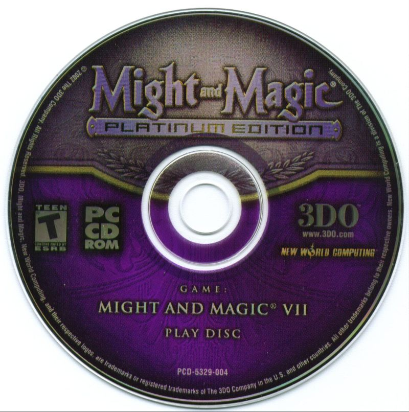 Might and Magic: Platinum Edition Windows Media Might and Magic VII Play Disc