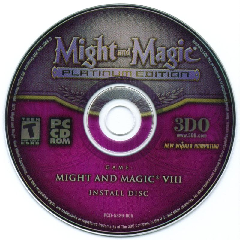 Might and Magic (Platinum Edition) Windows Media Might and Magic VIII Install Disc