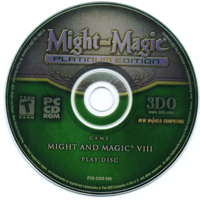Might and Magic: Platinum Edition Windows Media Might and Magic VIII Play Disc