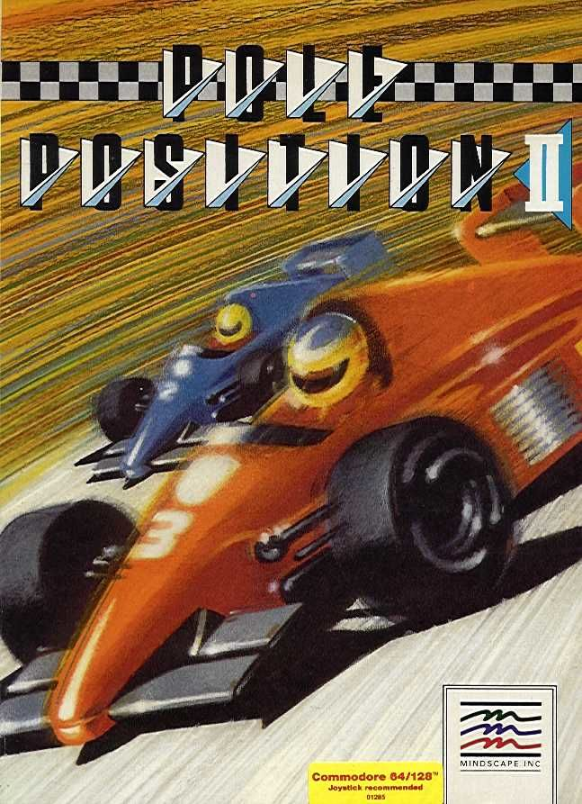 Pole Position II Commodore 64 Front Cover