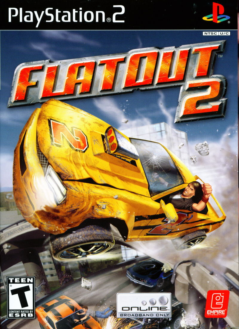 FlatOut 2 (2006) PlayStation 2 box cover art - MobyGames
