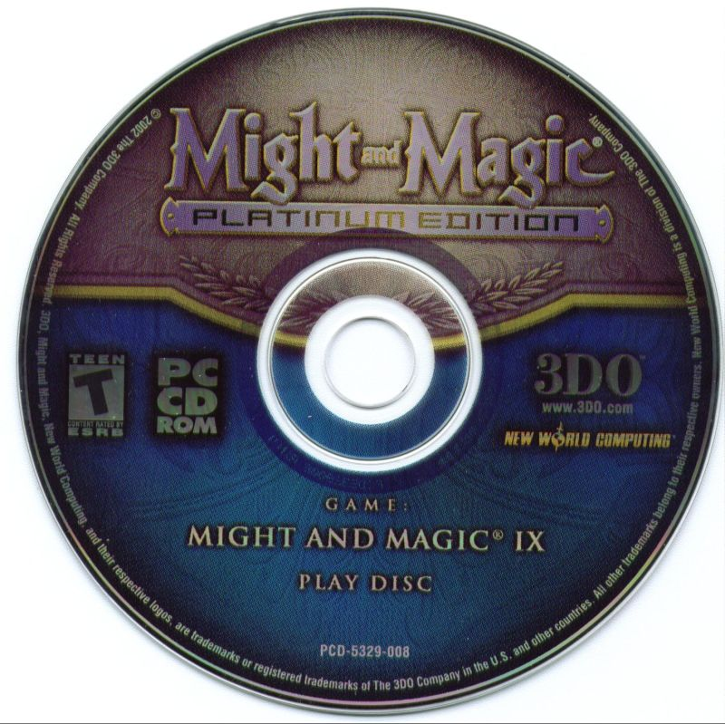 Might and Magic (Platinum Edition) Windows Media Might and Magic IX Play Disc