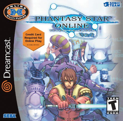 Phantasy Star Online Ver. 2 Dreamcast Front Cover