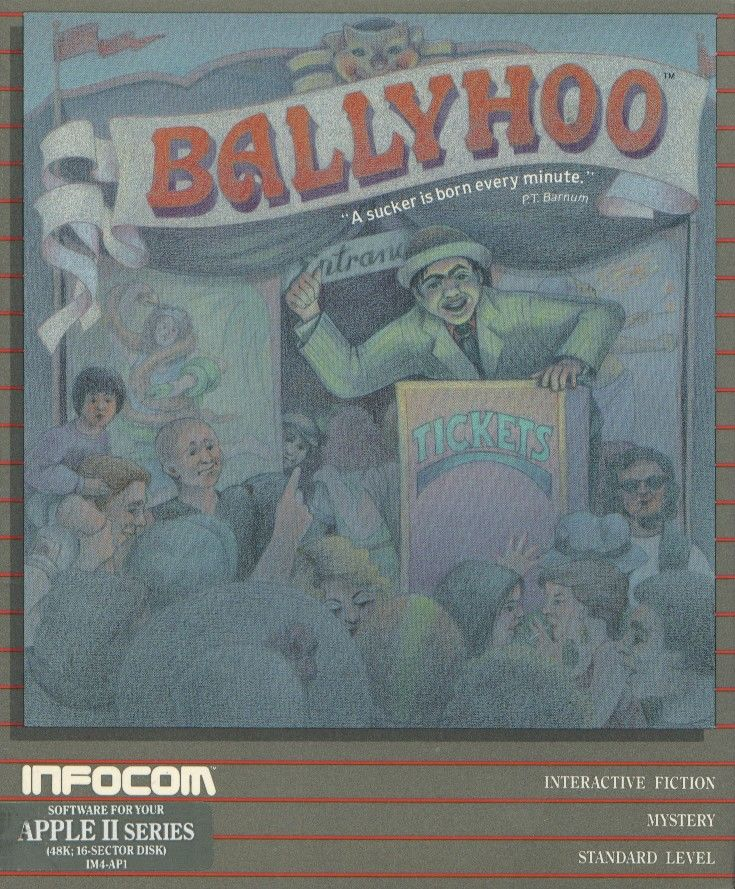 Ballyhoo Apple II Front Cover