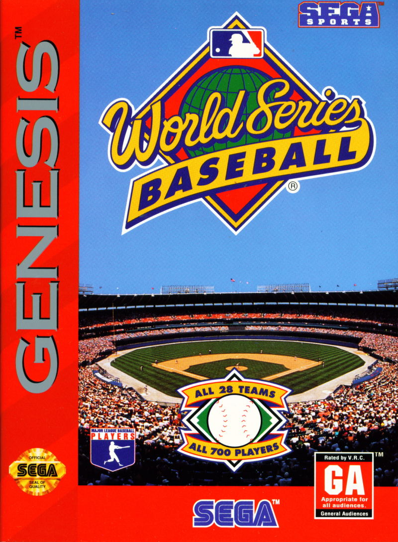 World Series Baseball (1994) Genesis box cover art - MobyGames