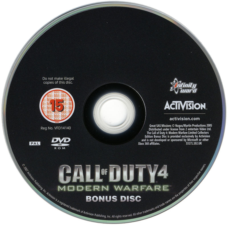 Call of Duty 4: Modern Warfare (Limited Collector's Edition) Windows Media Bonus Disc
