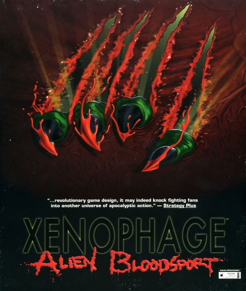 Xenophage: Alien BloodSport DOS Front Cover