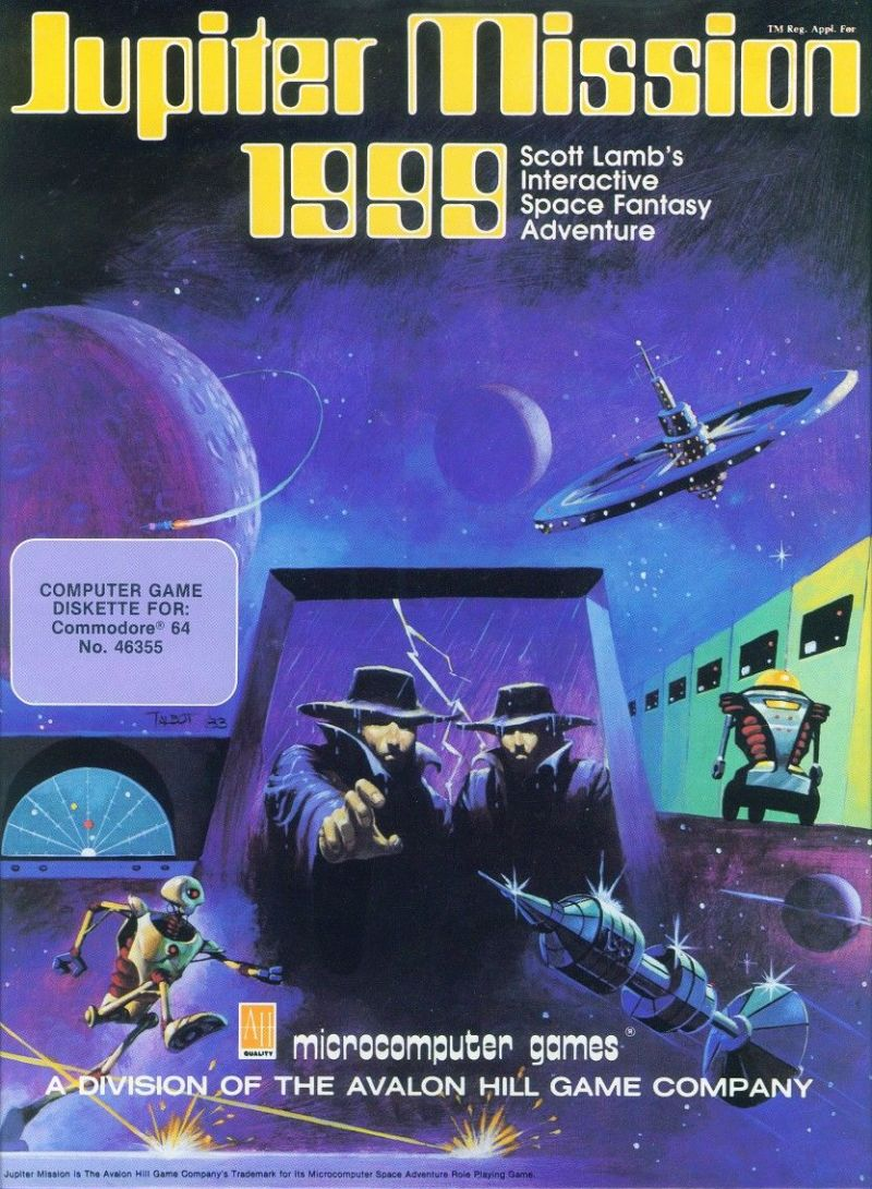 Jupiter Mission 1999 Commodore 64 Front Cover