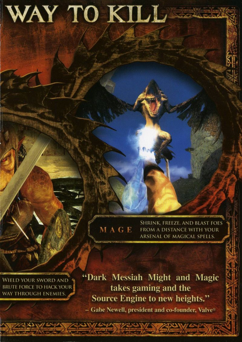 Dark Messiah: Might and Magic Windows Inside Cover Right Flap