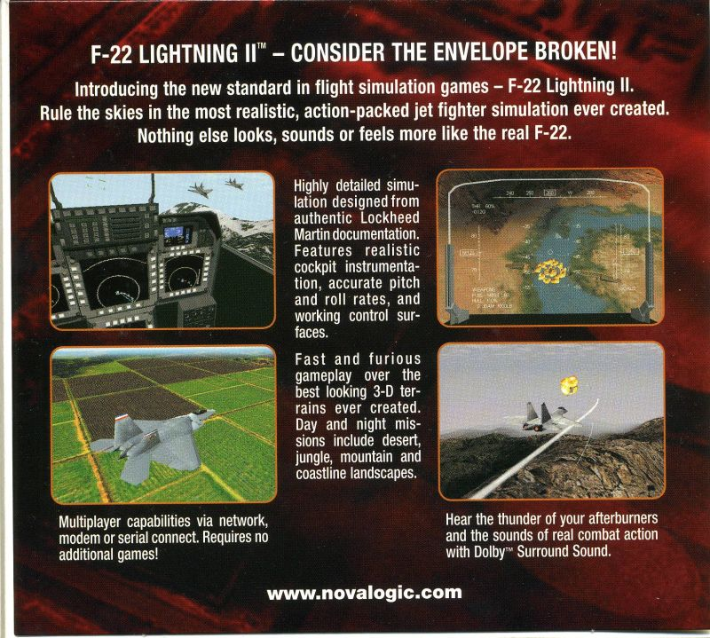 F-22 Lightning II DOS Other Sleeve Case - Inside Left