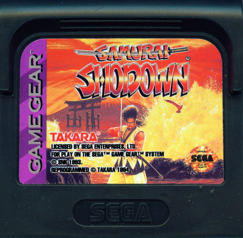 Samurai Shodown Game Gear Media